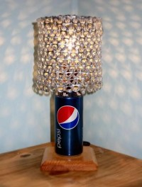 Pepsi Soda Can Lamp with Pull Tab Lampshade The Pepsi