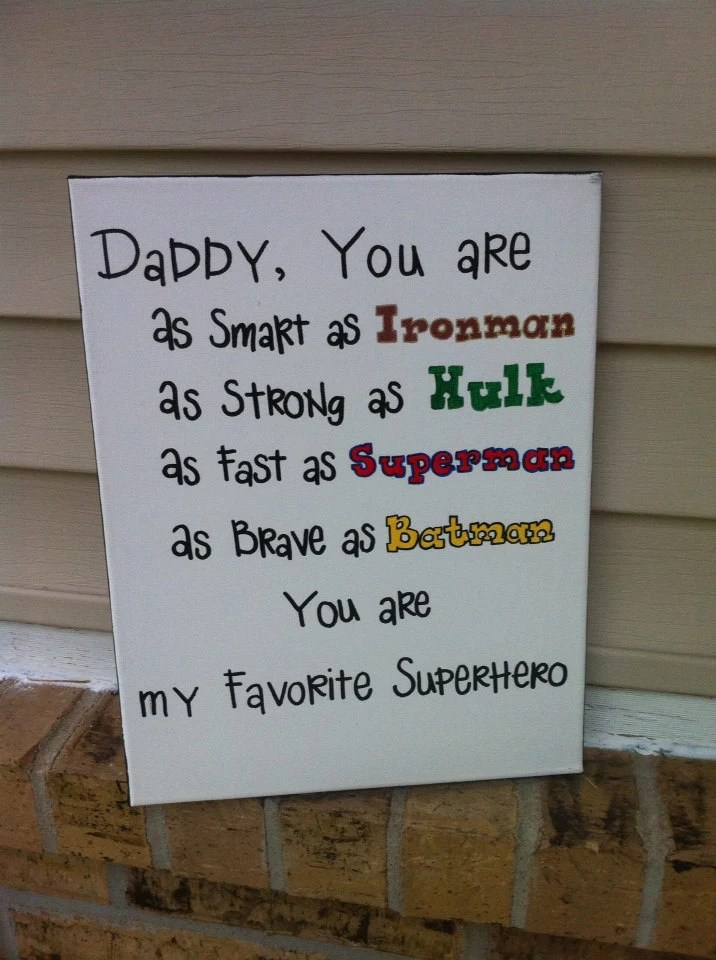 Daddy Is My Superhero Sign By OverwhelmedByLove On Etsy