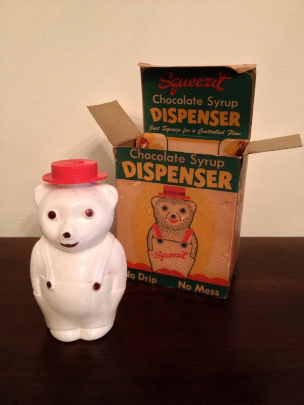 Vintage Plastic Bear Squeezit Chocolate Syrup