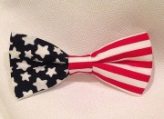 american flag bow red white