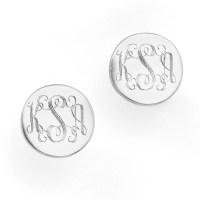 Sterling Silver Monogram Earrings Stud monogram