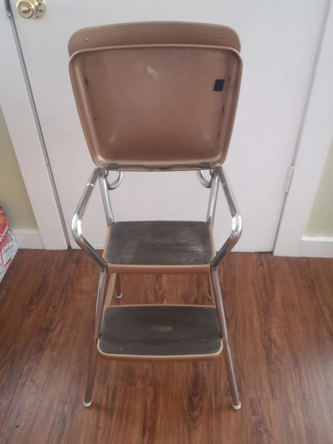 vintage kitchen step stool chair bobs furniture table cosco with flip up seat all