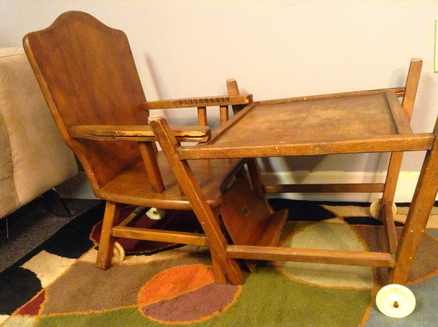 table high chair reviews kmart dining chairs nz 1950 39s thayer tops for tots convertible desk