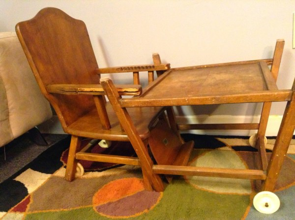 Antique Convertible High Chair - Vintage 1950s Baby High Chairs - Vtwctr