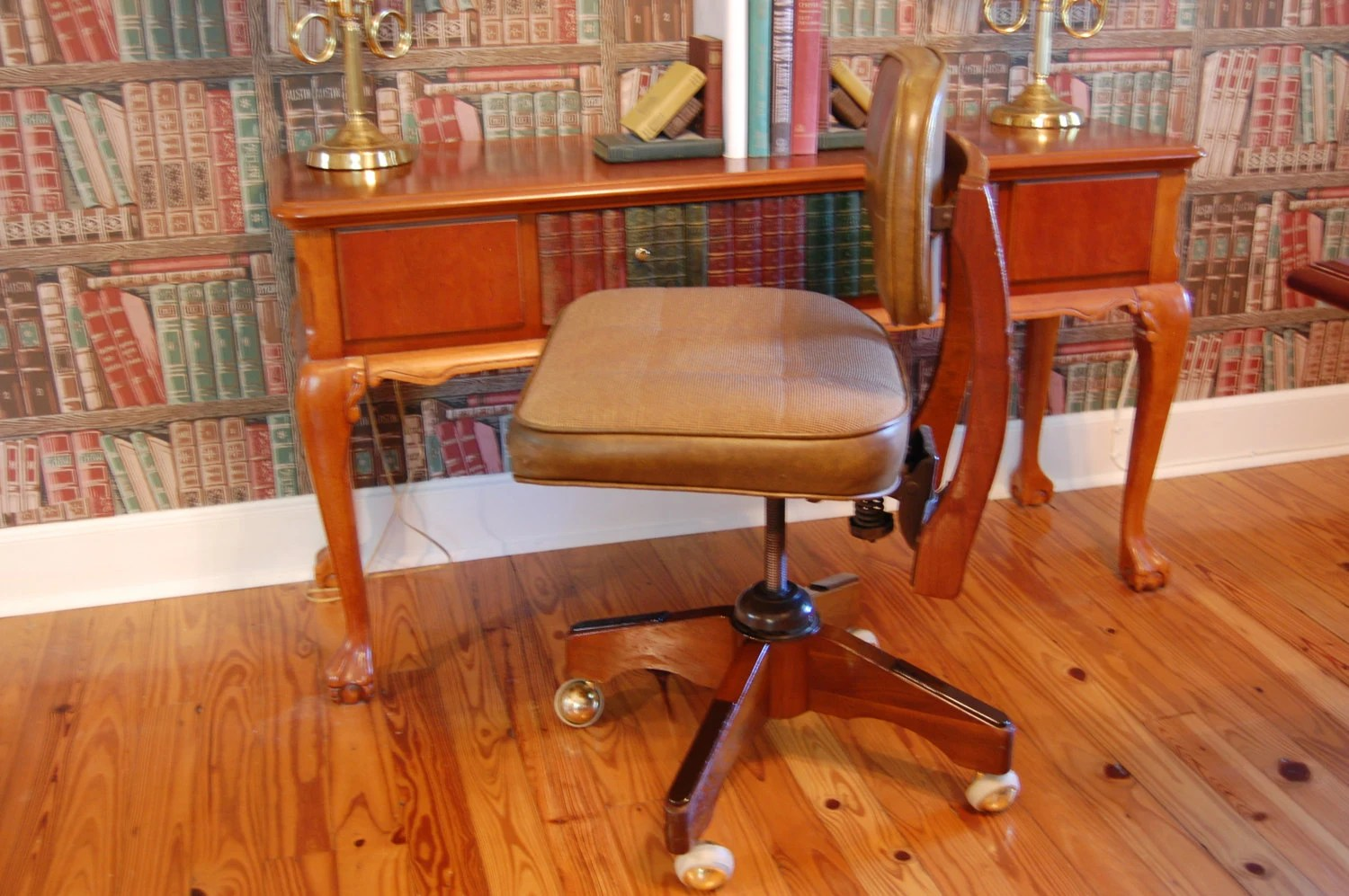 Industrial Office Chair Vintage Industrial 1950s Office Chair Metal And Wood Mid