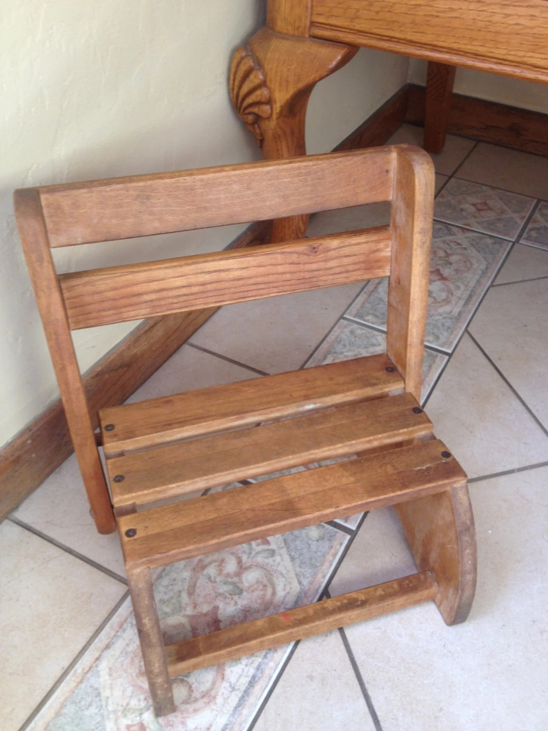 Wooden Step Stool Chair Wonderful Vintage Wooden Child 39s Step Stool Or Chair From