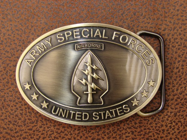 Military Belt Buckle U. Army Special Forces Green Beret