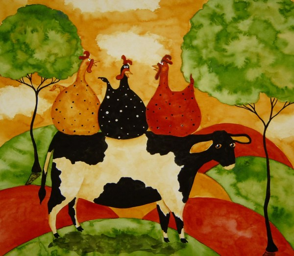 Whimsical Folk Art Prints Animals