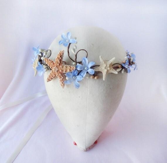Seashell Hair Accessory Starfish Headband Beach Wedding