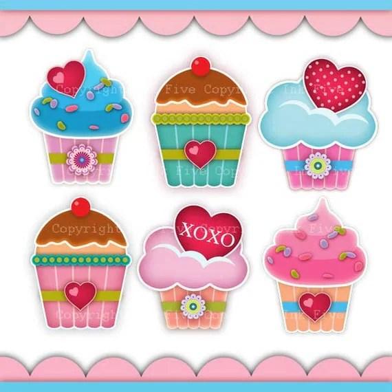 digital clip art cupcakes