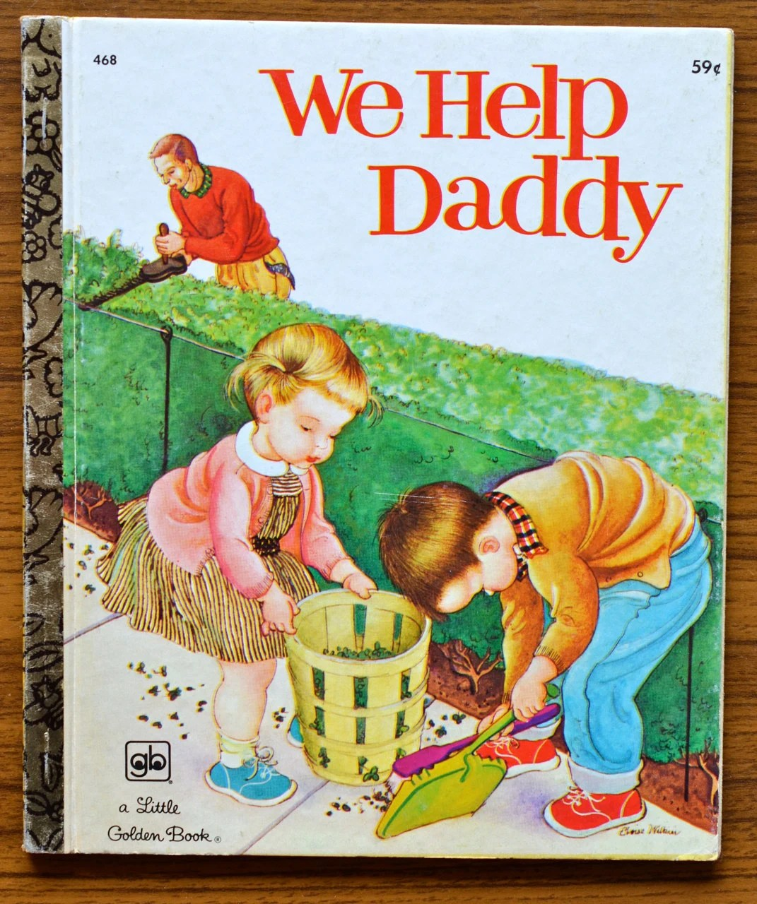 We Help Daddy, Vintage Little Golden Book, Children's Book, Kids, Unique Father's Day Card, For Dad