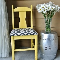 Gray Chevron Chair Small Chaise Lounge For Bedroom Yellow By Relovedretro On Etsy