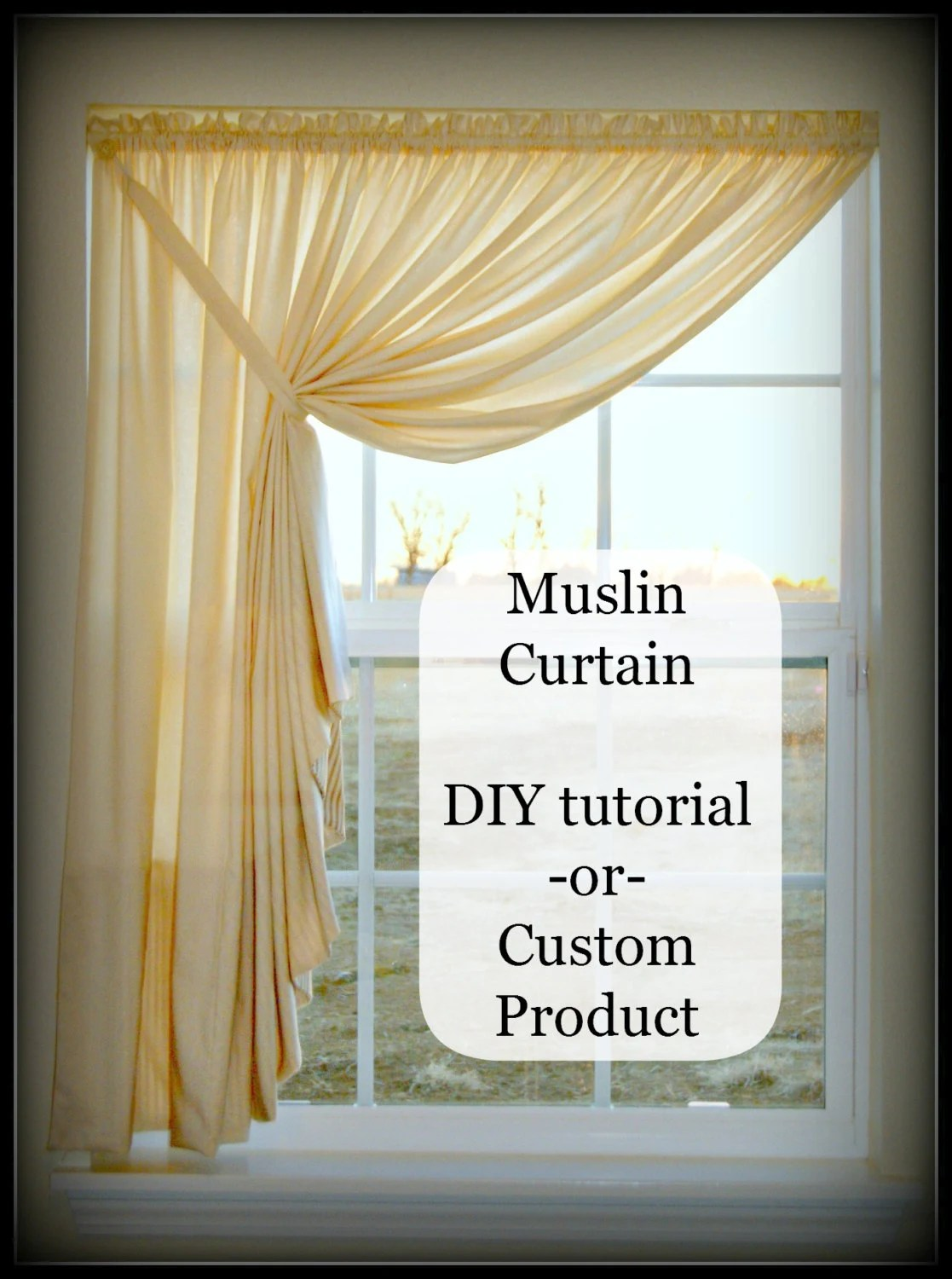 Easy Diy Pattern Tutorial For Muslin Swag Curtain By