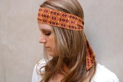 bohemian neck bow hair wrap