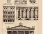 1895 Roman Art, Antique Print, Tivoli Temple, Colosseum, Porta Aurea, Jupiter Temple, Julius Caesar, Agrippina, Caracalla, Pompeii, Rome