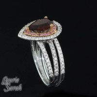 January Birthstone Garnet Wedding Ring Set by ...