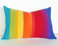 Rainbow Pillow Colorful Striped Throw Cushion by ...