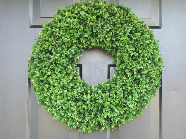 Realistic 20 Faux Boxwood Wreath Sizes 14