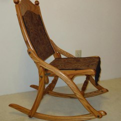 Old Fold Up Rocking Chair Mobile Pedicure Civil War Folding