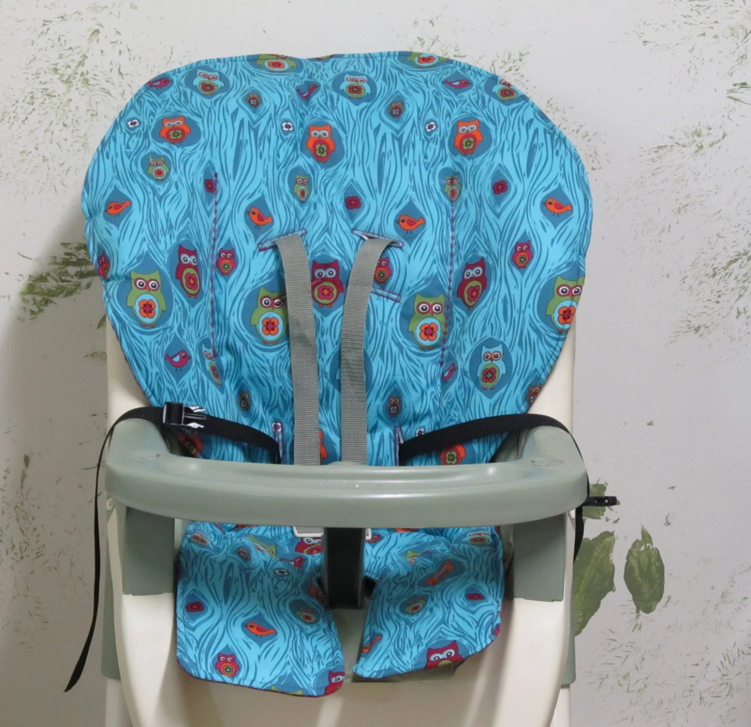 stokke high chair cushion sewing pattern chicco travel seat hook on graco cover pad replacement woodland owls