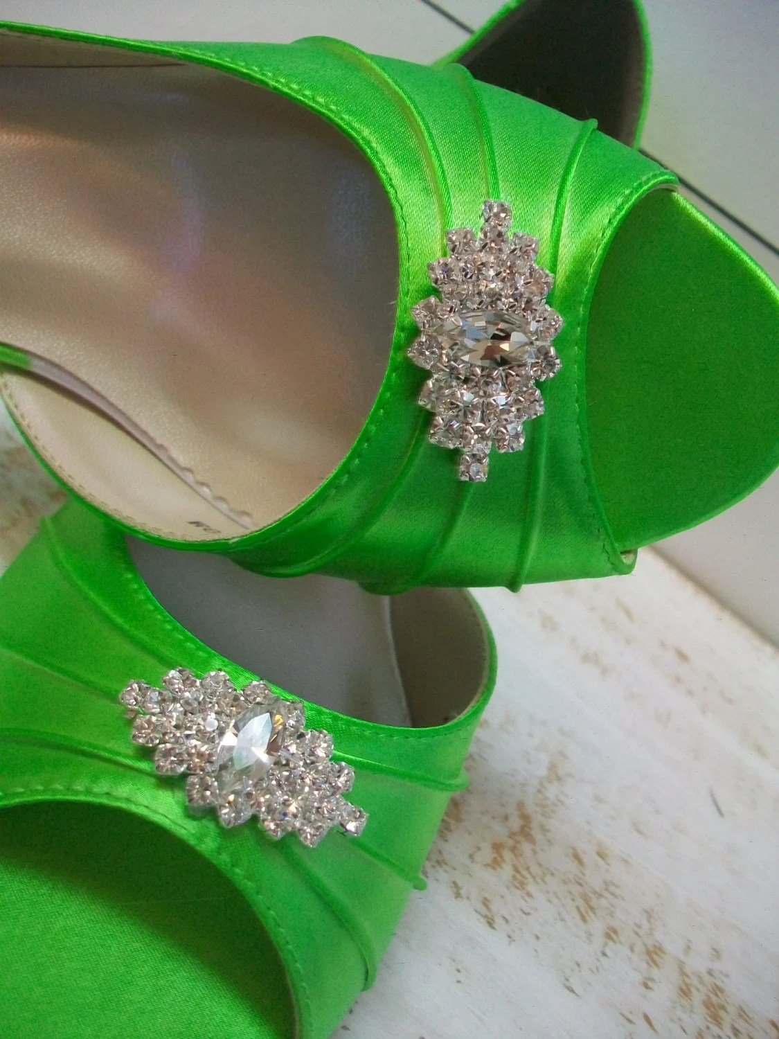 Items similar to Lime Green Wedding Shoes  Over 200 Colors Dyeable Shoes  Wide Sizes Available