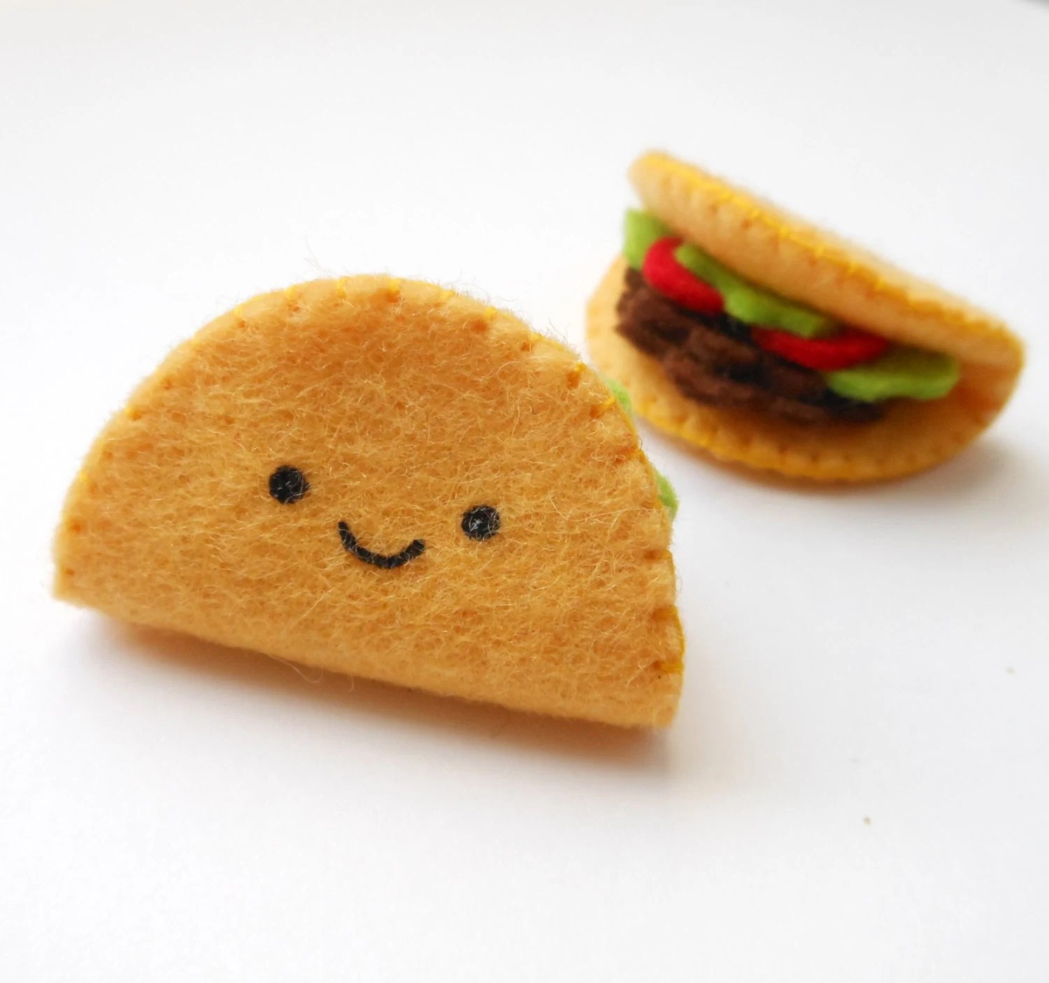 SALE Tiny Taco Brooch by Michelle Coffee