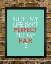 perfect hair quote print stylist