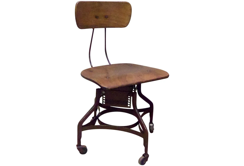 Antique Toledo Industrial Desk Chair Uhl Drafting Typist Steno