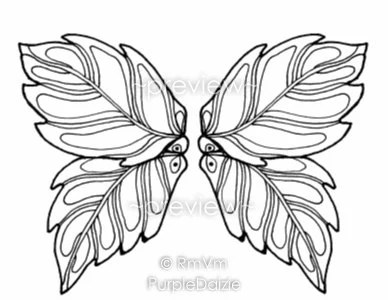 Items similar to Printable Color Page Fairy Wings 1