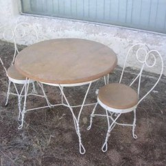 Ice Cream Parlor Chairs Chair Covers Kmart Vintage Childs Set Table And 2