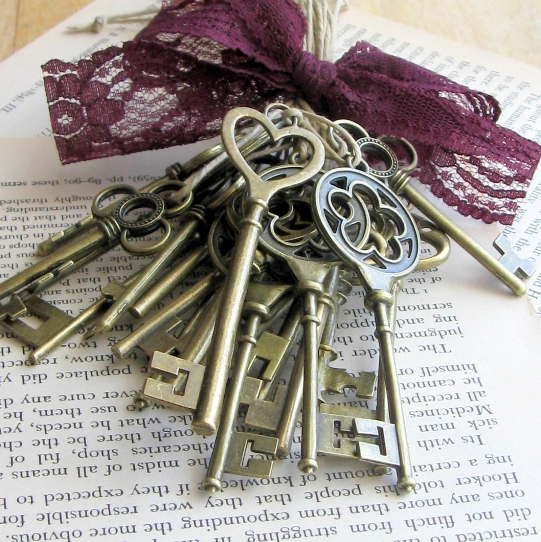 Skeleton Key Wedding Favors