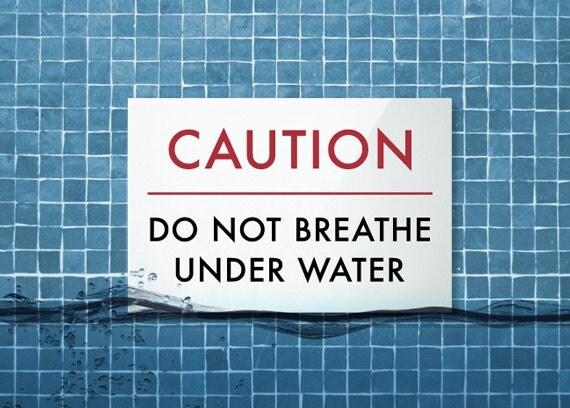Joke Swimming Pool Sign Funny Chinglish Signage Outdoor Spa