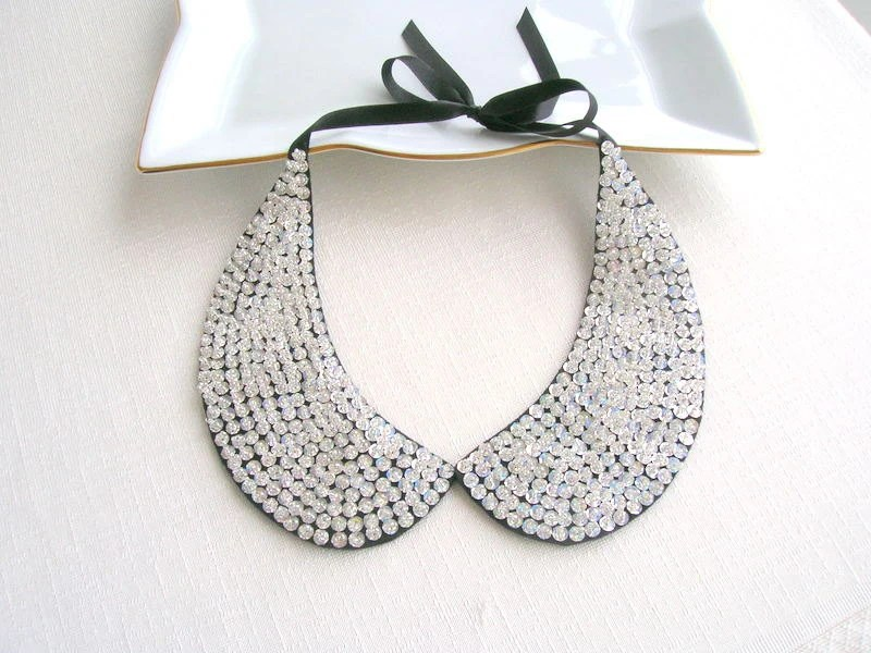 FREE SHIPPING :) Handmade silver collar necklace - NurayAytac