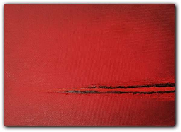 Original Red Abstract Art Painting Modern