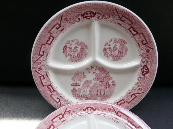 Jackson China Red Willow Vintage Restaurant Ware Divided