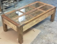 Items similar to Hand made shadow box coffee table from ...
