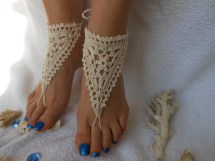 Crochet Barefoot Sandals Beach Wedding Yoga Shoes
