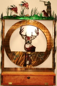 Gun Rack 1 Bucks & Ducks by JDArtMetalDesigns on Etsy