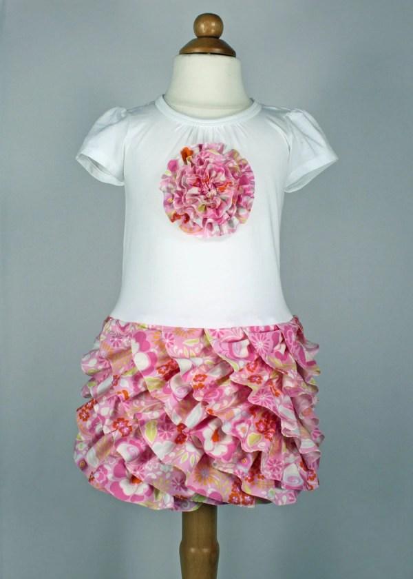 Girls Easter Ruffle Dress Pdf Pattern Toddler Layer
