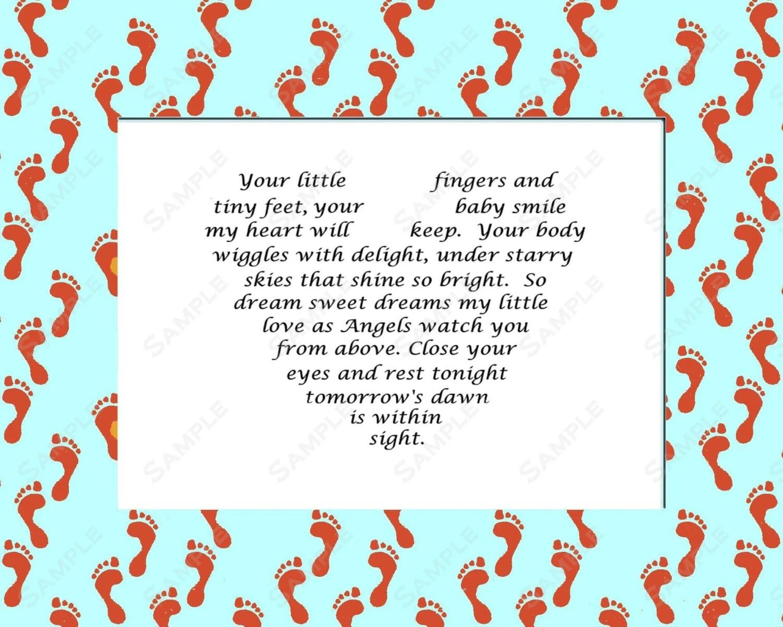 Items similar to Baby Boy Love Poem Gift INSTANT DIGITAL ...