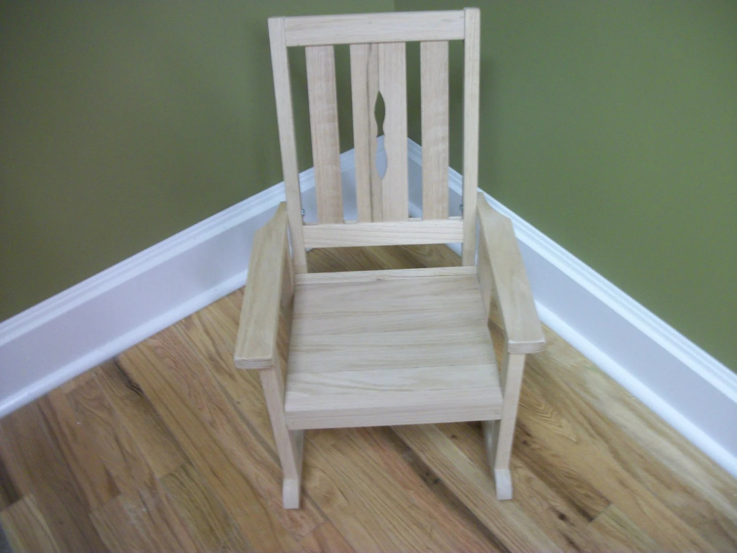unfinished rocking chair ergonomic for tall person child 39s oak