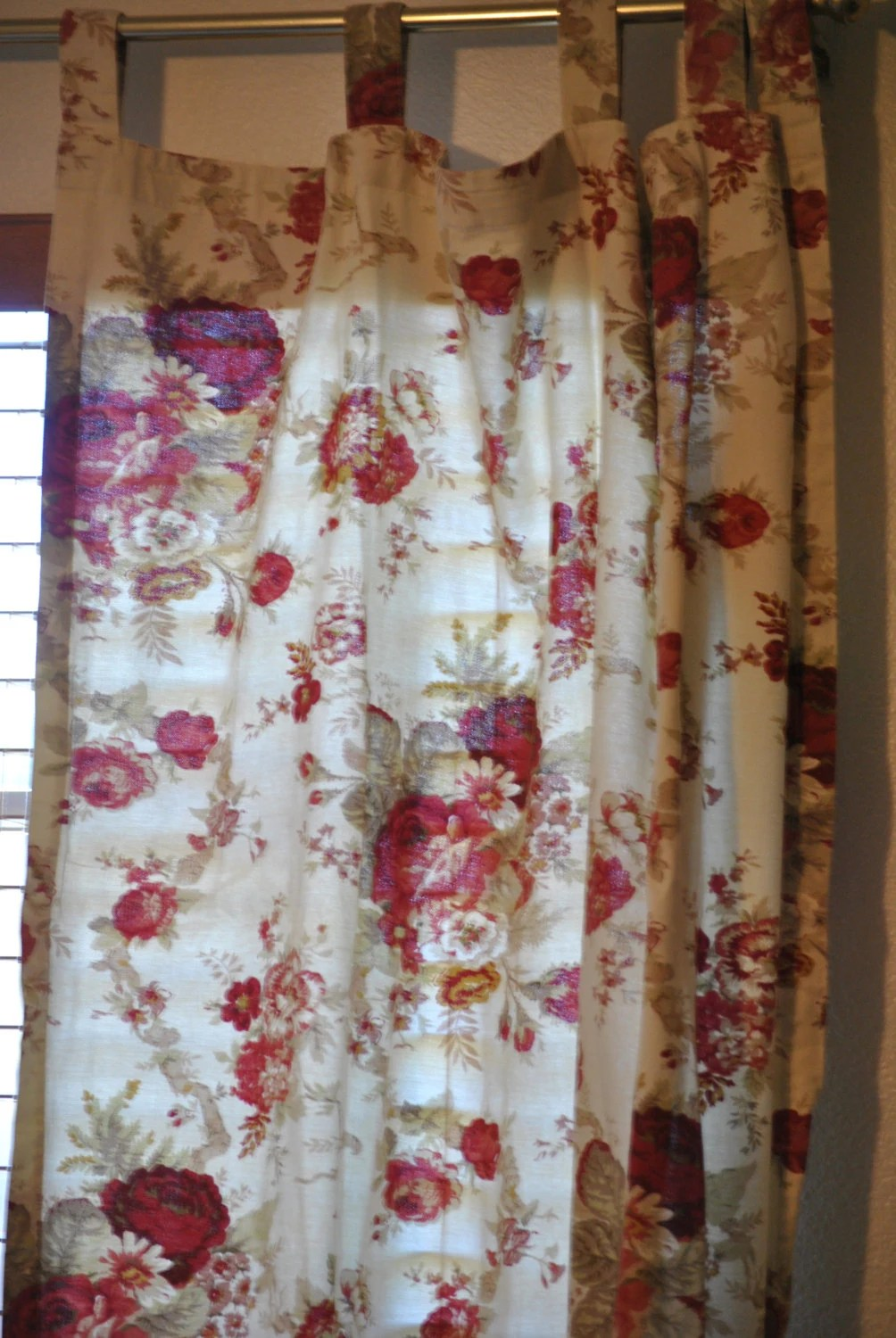 SALE Waverly Garden Room Rose Curtains By LibertinesTreasures