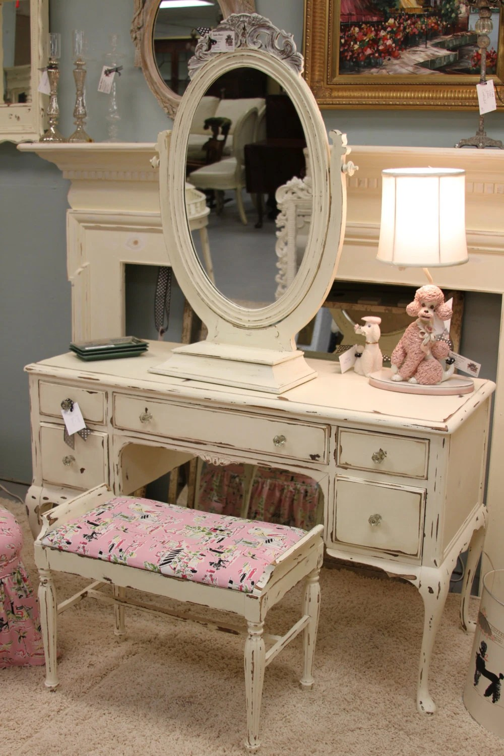 Items similar to Adorable Shabby Chic Distressed Vanity