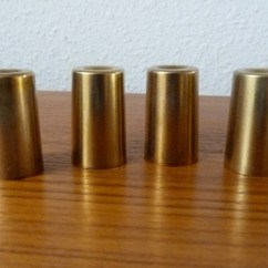Caps For Chair Legs Stakmore Folding Chairs Uk Vintage Brass Furniture 4 Peg Leg Feet Replacement