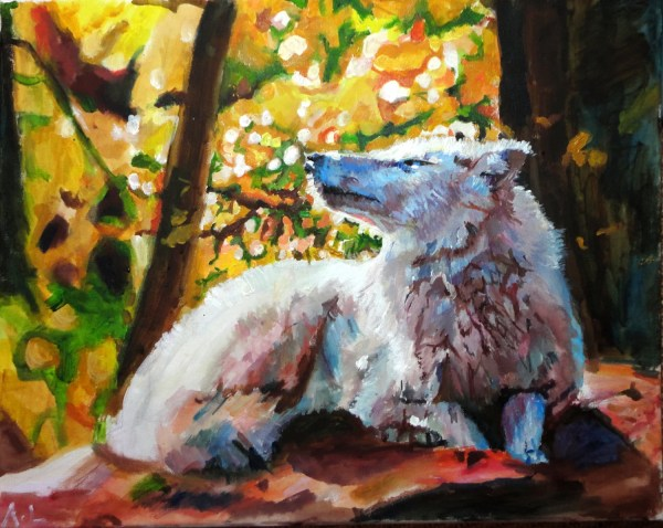 Wolf Fine Limited Edition Art Print Abstract Painting White