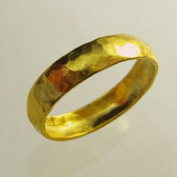 24 Karat ring unisex ring Man Wedding Band Woman Wedding