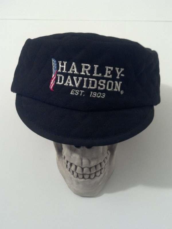 Vintage Style Harley Davidson Motorcycle Welder Cap Hat