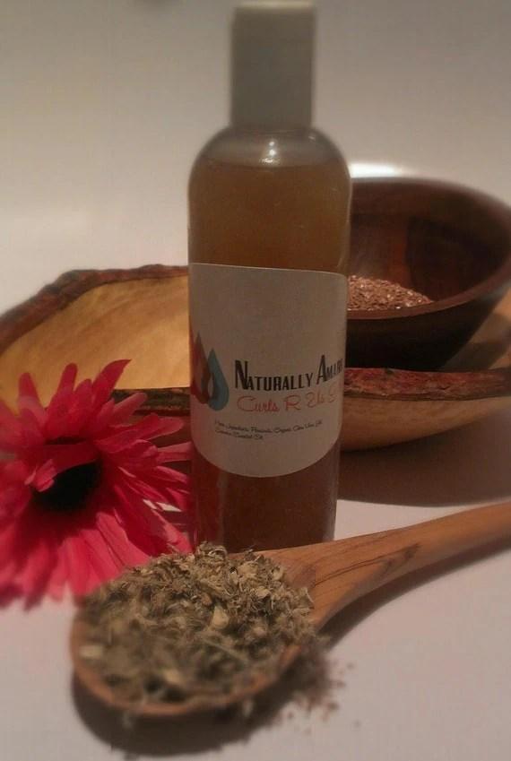 Natural Hair Gel Flaxseed & Marshmallow Root Hair Softner, Conditioner, Ph Balanced, Hair Moisturizer 8oz