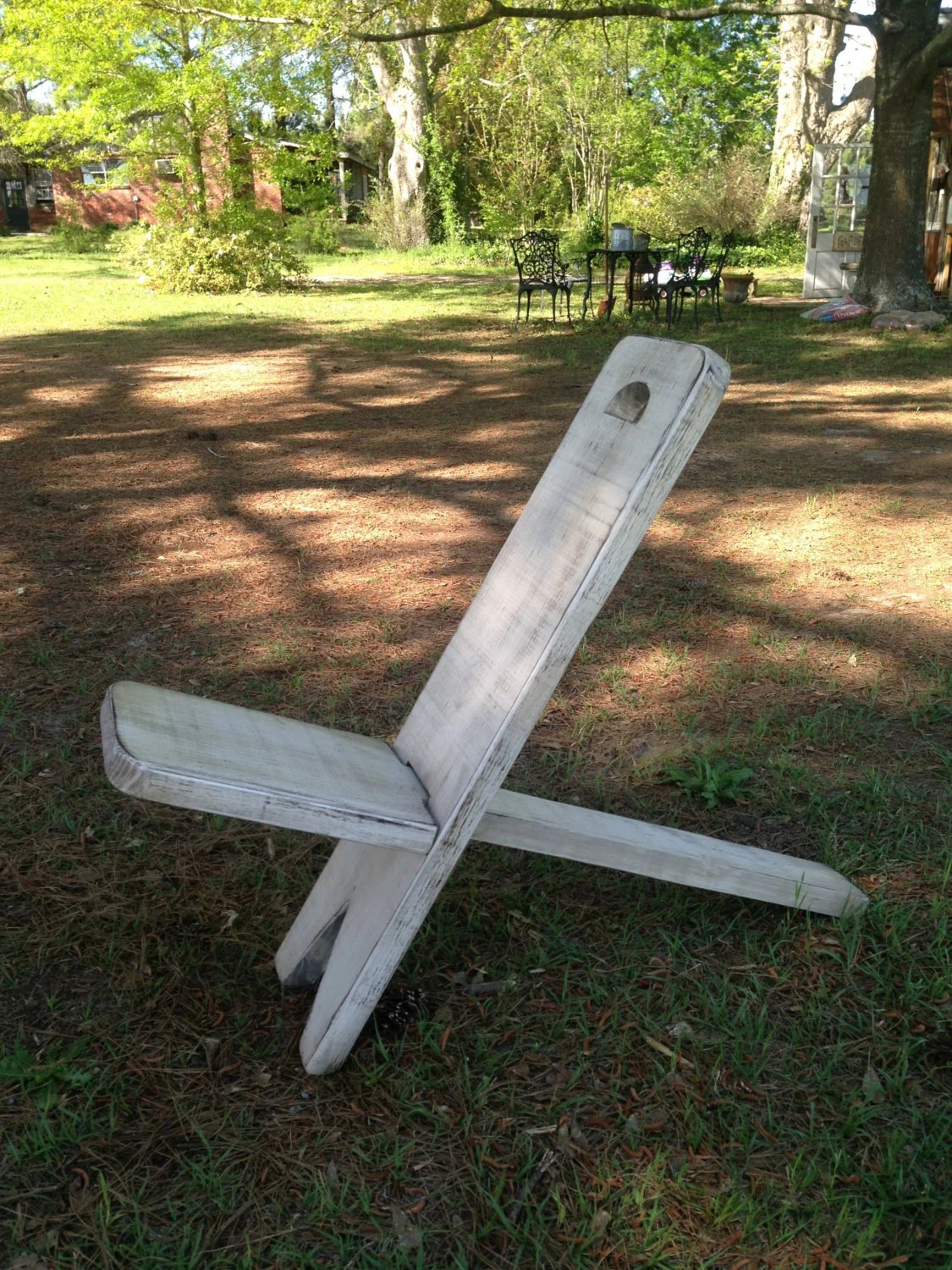 distressed adirondack chairs wooden high chair cover style camping in white
