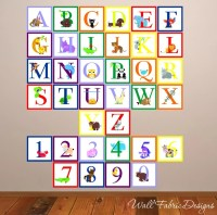 Items similar to Animal Alphabet With Numbers Wall Decal ...